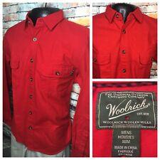 Woolrich Chamois Flannel Shirt Red Mens Medium