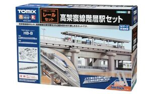 Tomix 91043 Elevated Double Track Hierarchical Station Set (Rail Pattern HB-B) N