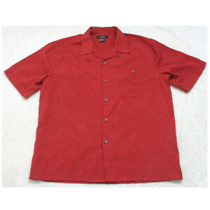 Great Northwest Red Short Sleeve Man's XL Polyester Men's Pocket Dress Shirt Z18