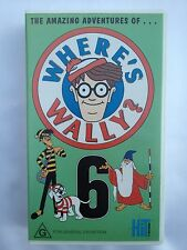 THE AMAZING ADVENTURES OF WHERE'S WALLY? ~ RARE VOLUME SIX 6 ~ RARE VHS VIDEO