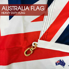 1800x900 HEAVY DUTY Australian Flag Polyester Metal Woven Brass Sister Clips AU