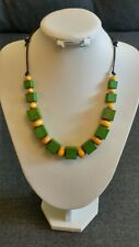 Solid Wooden Necklace Handmade