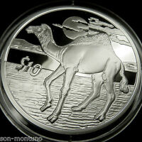 "2006 ""African Animals""  CAMEL PROOF  Bank of Sierra Leone Sterling Silver Coin"