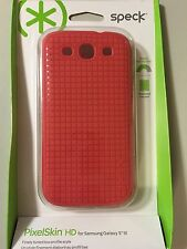 Genuine Speck PixelSkin HD Protection case Coral pink for Samsung Galaxy SIII S3