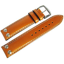 20mm Di-Modell Ikarus Mens Tan Leather Riveted Pilot German Watch Band Strap