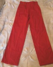 Ladies true vintage skinny leg high waist red trousers 4/6 petite
