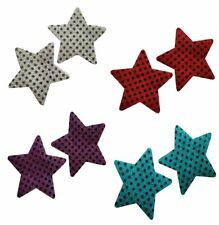 Embellished Star Glitter Pasties Set of 4