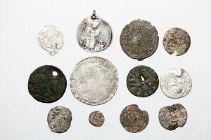 Lot , Mittelalterlichen Münzen- 12 St.       OUO-1