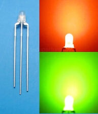20Pcs 3mm Dual Bi-Color Red/Green diffused 3 Pin LED Common Cathode