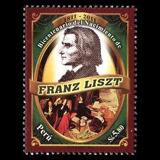 Peru 2011 - Anniversary of the Birth of Franz Liszt, 1811-1886 - Sc 1799 MNH