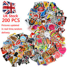 200pc Universal Car Truck Travel Case Stickers Pack Decal Random Sticker Decals