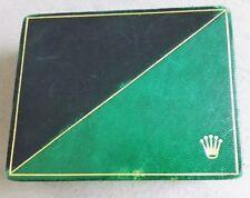 Rolex RARE 60'S BLACK & GREEN WATCH BOX SPORTS MODELS 6263-6265 etc