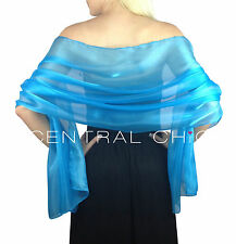 Central Chic Silky Iridescent Wrap Stole Shawl Weddings Bridal Bridesmaids Balls