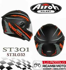 CASCO AIROH ST301 INTEGRALE CON DOPPIA VISIERA NERO / ORANGE TAGLIA M PER MOTO