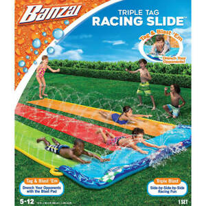 Banzai Triple Tag Racing Water Slide