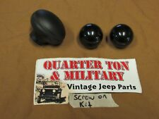 Jeep Willys CJ2A CJ3B CJ3A M38 shift knob kit screw on style  Transmission T-90