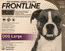 Frontline Plus For Large Dogs 45-88 lbs (20-40kg) 3 Month Supply, New In Box