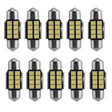 10 X White 31MM 2835 8-SMD Festoon Dome Map Interior LED Lights Lamp DE3425 6418