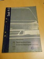 SAAB 9.3 système électrique , schémas électriques édition finale 1998