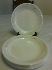 """Set of 7  Corelle Peach Garland Bread and Butter Plates 6 3/4""""- EUC"""