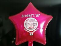 Lockdown birthday THE AFTER PARTY balloon 2020 PERSONALISED FOIL BALLOON