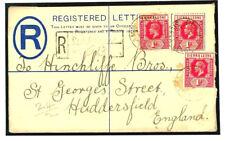 Sierra Leone *Blama* Registered Stationery Envelope 1920 Yorks {samwells}W287a