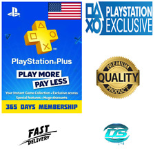 PlayStation Plus 12 Month 365 Days PSN Network Key PS3 PS4 PS Vita - US