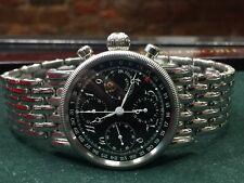 Chronoswiss Lunar Chronograph CH7523 Black Dial Stainless Steel Bracelet