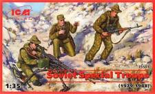 SOVIET/RUSSIAN SPECIAL TROOPS (SPETSNAZ AFGHAN WAR W/AKS-74, NSV & SVD) 1/35 ICM