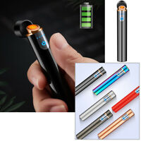 Electric Electronic Lighter Usb Rechargeable Windproof Touch Control