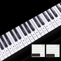 49/54/61/88 Key Transparent Piano Keyboard Stickers Musical Sticky Note Phonetic
