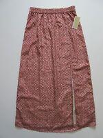 Two Tone Blue White Chevron Skirt Color Block Jersey Long Maxi 145 mv Dress M L