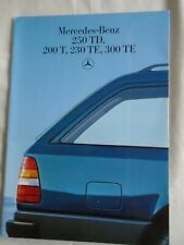 Mercedes 250TD, 200T, 230TE, 300TE range brochure Jan 1986