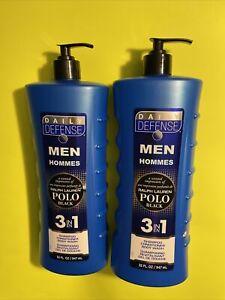 2 Bottles Ralph Lauren ~ Polo Black 3-in-1 Shampoo, Conditioner & Body Wash🔥🔥