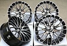 "19"" CRUIZE 170 BP ALLOY WHEELS BLACK POLISHED CROSS SPOKE 5X110 19 INCH ALLOYS"