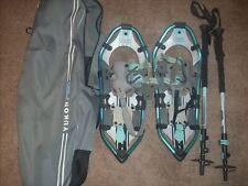 Yukon Charlie Pro series 821 snowshoe kit w/trekking poles and carry bag
