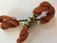 DMC Coton Perle 5 #301 Mahogany Medium 100% Mercerized Pearl Cotton Thread 27yds