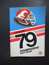 1979 Calgary Stampeders Fact Book