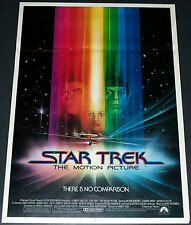 STAR TREK THE MOTION PICTURE 1979 ORIG. 17x24 MOVIE POSTER! BOB PEAK SCI-FI ART!