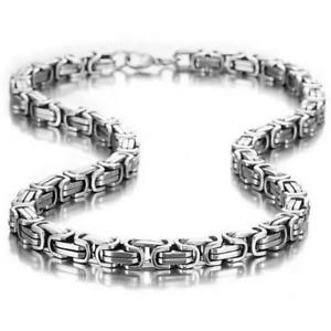 Chaîne collier pour homme en acier INOXYDABLE et titane moderne tendance 60 cm