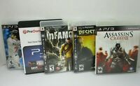 Playstation 3 Games Lot of 5 Assassins Creed Resistance Infamous Red Dead PS3