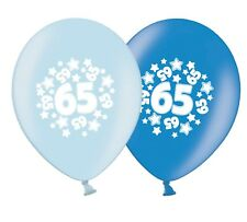 """number 65 - stars -  12""""  Blue Assortment Latex Balloons pack of 25"""