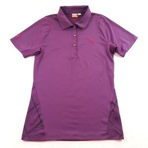 Puma Womens Size XS Purple Button Up Golf Polo Shirt Collared Neck