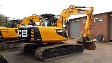 JCB JS220lc ESCAVATORE CON Decalcomania Sticker Set con cartelli di avvertimento