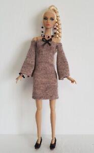 Poppy Parker Doll Clothes Retro DRESS and JEWELRY Handmade Fashion NO DOLL d4e
