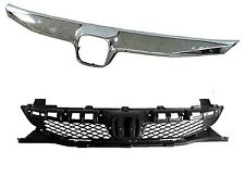 Grille Black w/Molding Fits 2009 2010 2011 Honda Civic Sedan HO1200198/HO1210127