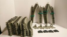 Bachmann HO Train Lot 52pcs Gray Nickel Silver EZ Track w/ Wiring & Switches RTR