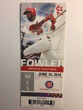 ST. LOUIS CARDINALS VS CHICAGO CUBS JUNE 16, 2018 TICKET STUB