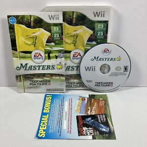 Tiger Woods PGA Tour 12: The Masters (Nintendo Wii, 2011) CIB! Tested! READ!