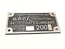 Outil Ancien rare plaque wagon de train Chateaubriant XXème
